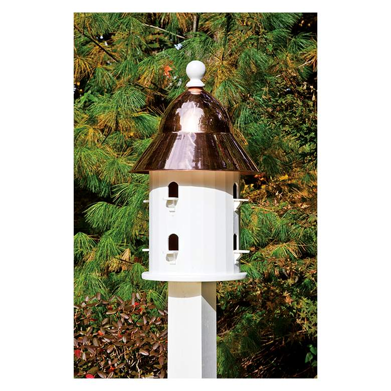 Good Directions Lazy Hill Farm Bell Copper Bird House
