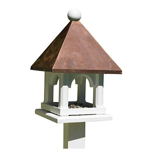 Good Directions Lazy Hill Farm Mini Copper Bird Feeder