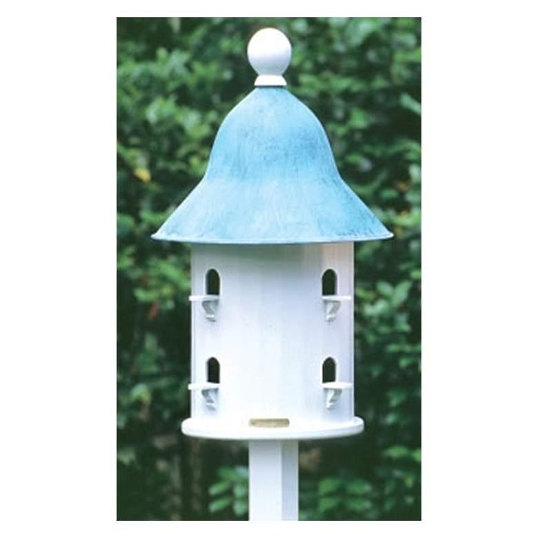 Good Directions Lazy Hill Farm Bell Blue Verde Bird House
