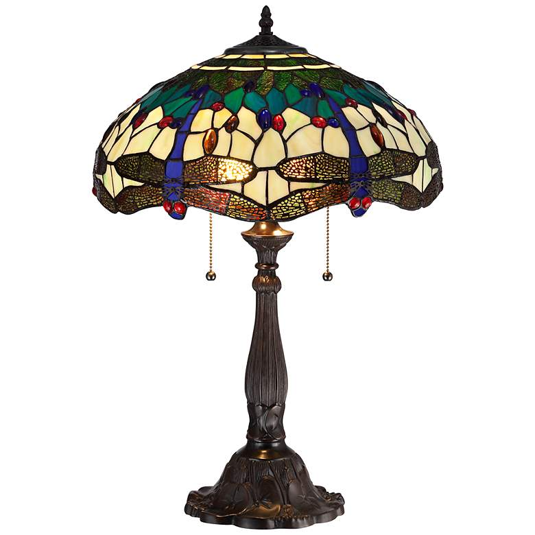 Robert Louis Tiffany Dragonfly Table Lamp