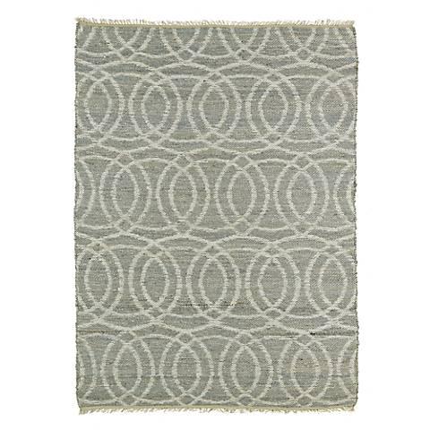 Kaleen Kenwood KEN03-75 Gray Circles Jute Reversible Rug