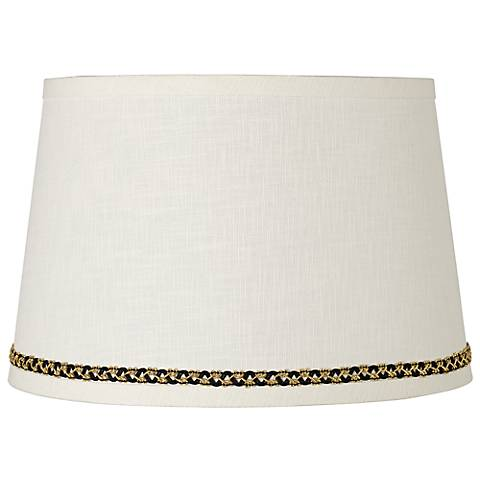 Linen Shade with Gold and Black Trim 10x12x8 (Spider)