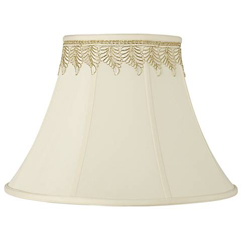 Imperial Shade with Embroidered Leaf Trim 9x18x13 (Spider)