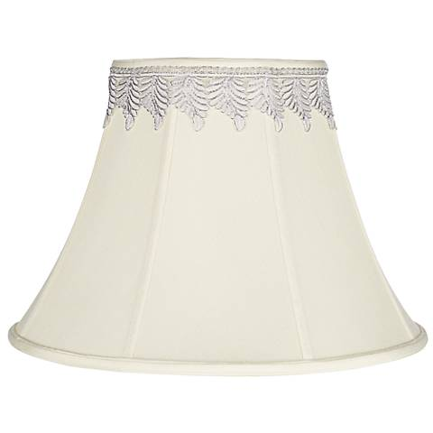 Creme Bell Shade with Metallic Leaf Trim 9x18x13 (Spider)