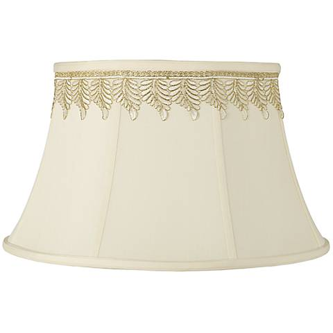 Creme Shade with Embroidered Leaf Trim 13x19x11 (Spider)