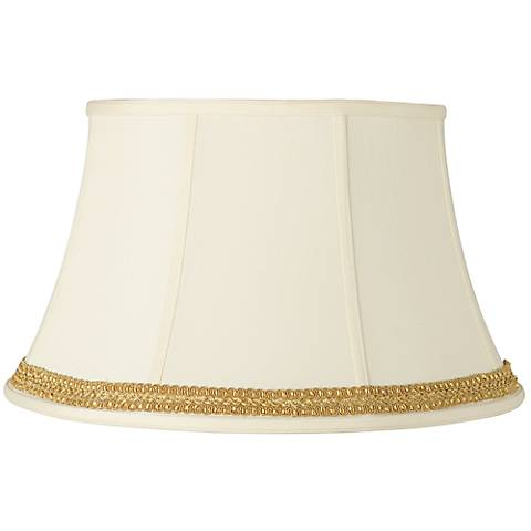 Creme Shade with Yellow Gold Ribbon Trim 13x19x11 (Spider)