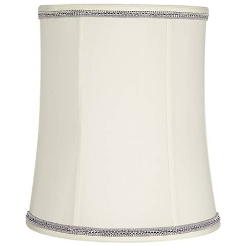 Creme Deep Shade with Gray Ribbon Trim 12x14x16 (Spider)