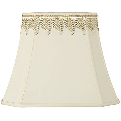 Rectangle Shade with Embroidered Leaf Trim 10x16x13 (Spider)