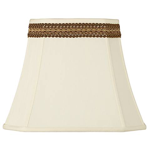 Rectangle Shade with Florentine Trim 10x16x13 (Spider)