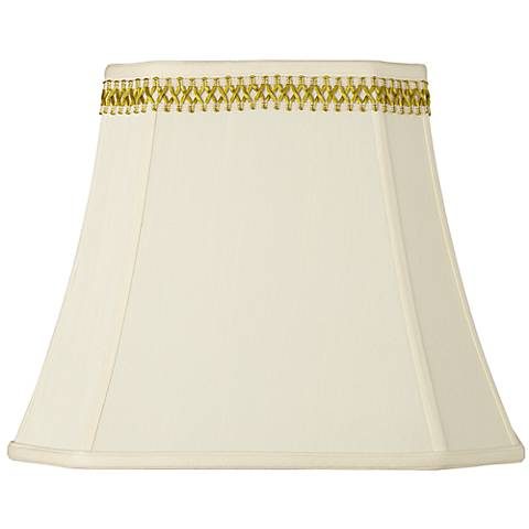 Rectangle Shade with Gold Satin Weave Trim 10x16x13 (Spider)
