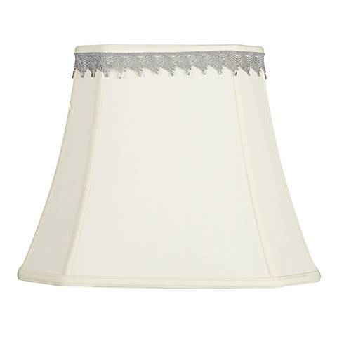 Rectangular Shade with Silver Leaf Trim 10x16x13 (Spider)