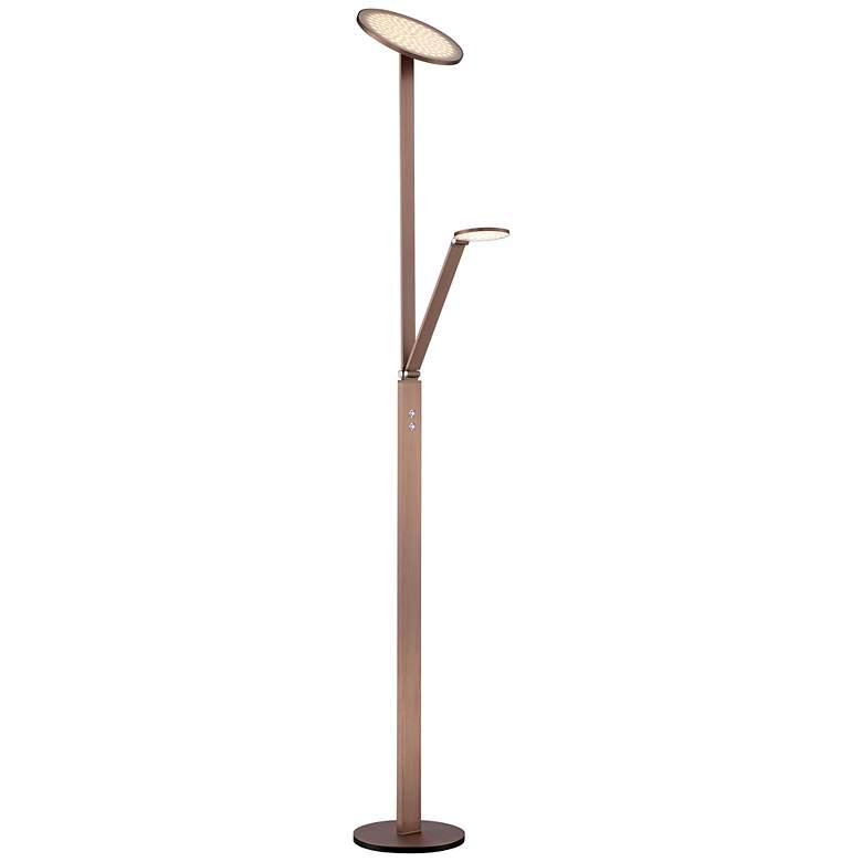 Possini Euro Magnum French Bronze LED Torchiere Floor Lamp
