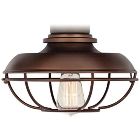 Franklin Park Oil Rubbed Bronze Damp Ceiling Fan Light Kit