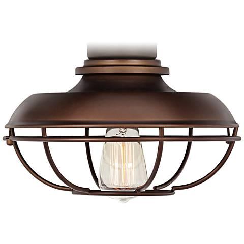 Franklin Park Oil Rubbed Bronze Damp Ceiling Fan Light Kit 7h579 Lamps Plus