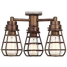 Ceiling fan light kits lamps plus bendlin industrial oil rubbed bronze ceiling fan light kit mozeypictures Images