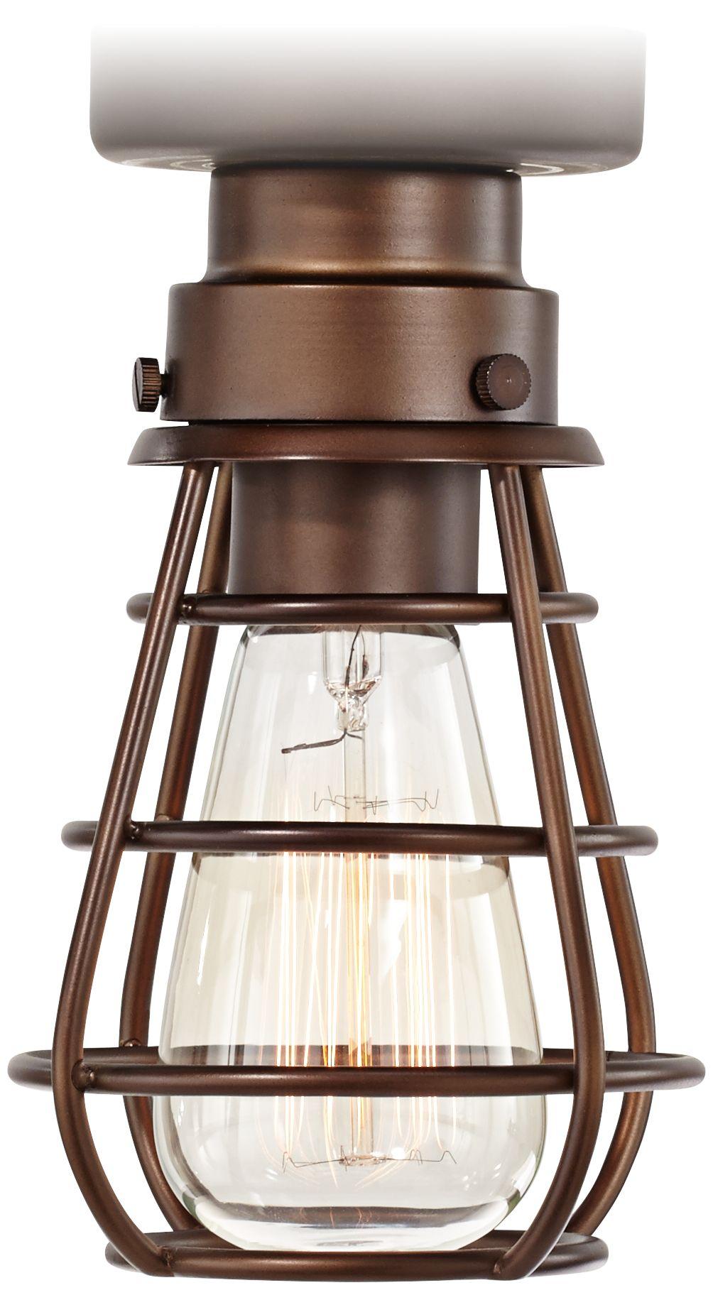 Excellent Bendlin Industrial Light Bronze Ceiling Fan Light Kit H Lamps Plus  With Lampsplus Com.