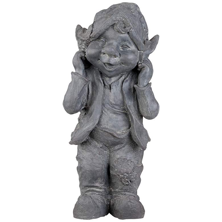 "Standing Gnome 15 1/2"" High Outdoor Statue"