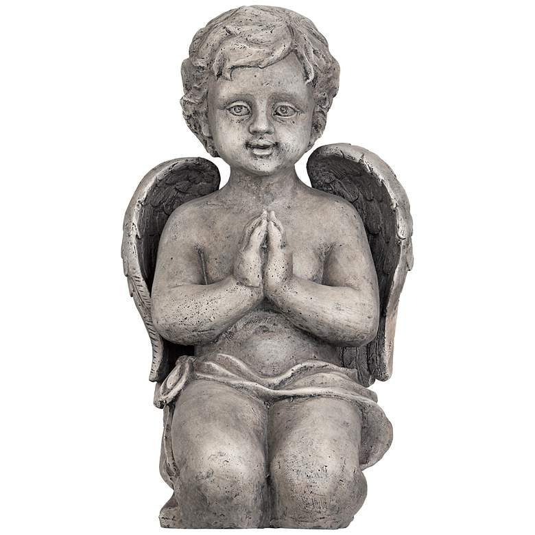"""Kneeling Angel 19 1/2"""" High Outdoor Statue Garden Accent"""