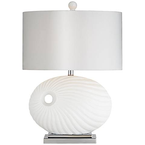 La Mar Modern White Ceramic Table Lamp