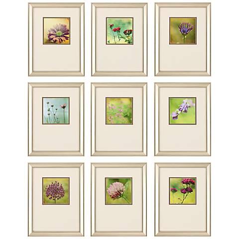"Waiting On Purple 9-Piece 17"" High Framed Wall Art Set"
