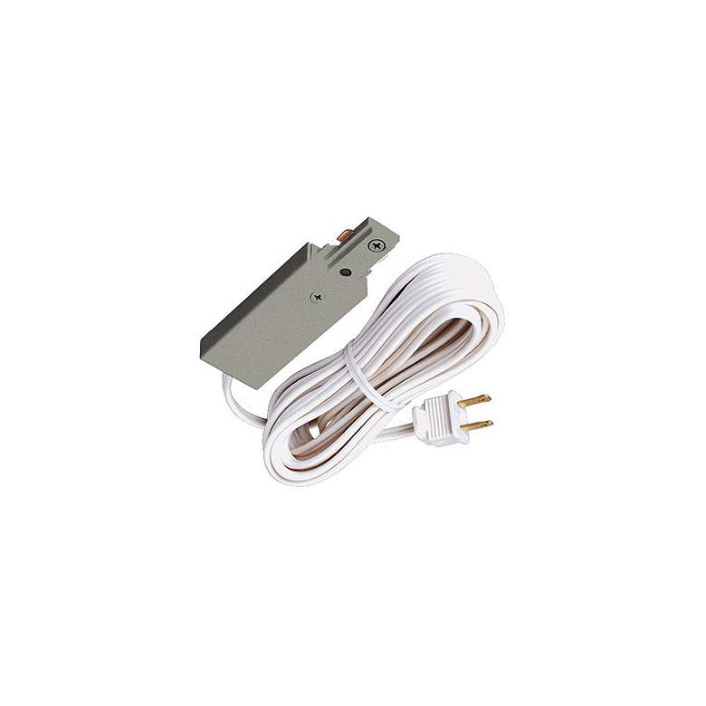 Juno Silver Electrical End Feed Cord and Plug Connector