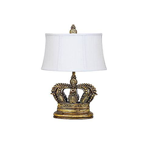 Crestview Collection Crown Gold 3-Way Table Lamp