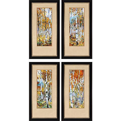"""Fall Magic 4-Piece 36"""" High Framed Wall Art Set"""