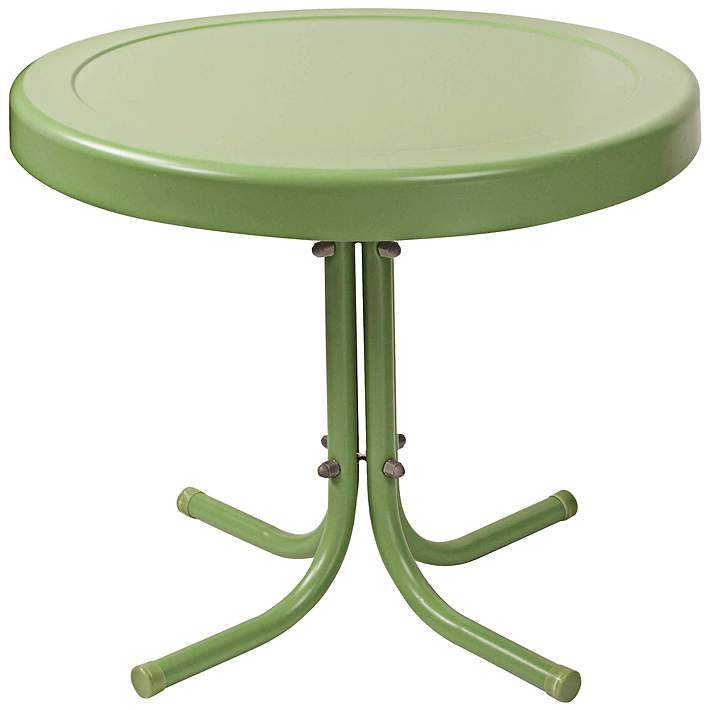 Griffith Oasis Green Powdercoat Round Outdoor Side Table 7j725 Lamps Plus