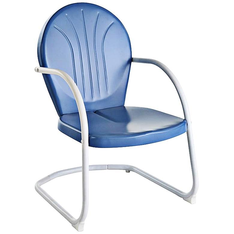 Griffith Nostalgic Sky Blue Metal Outdoor Chair