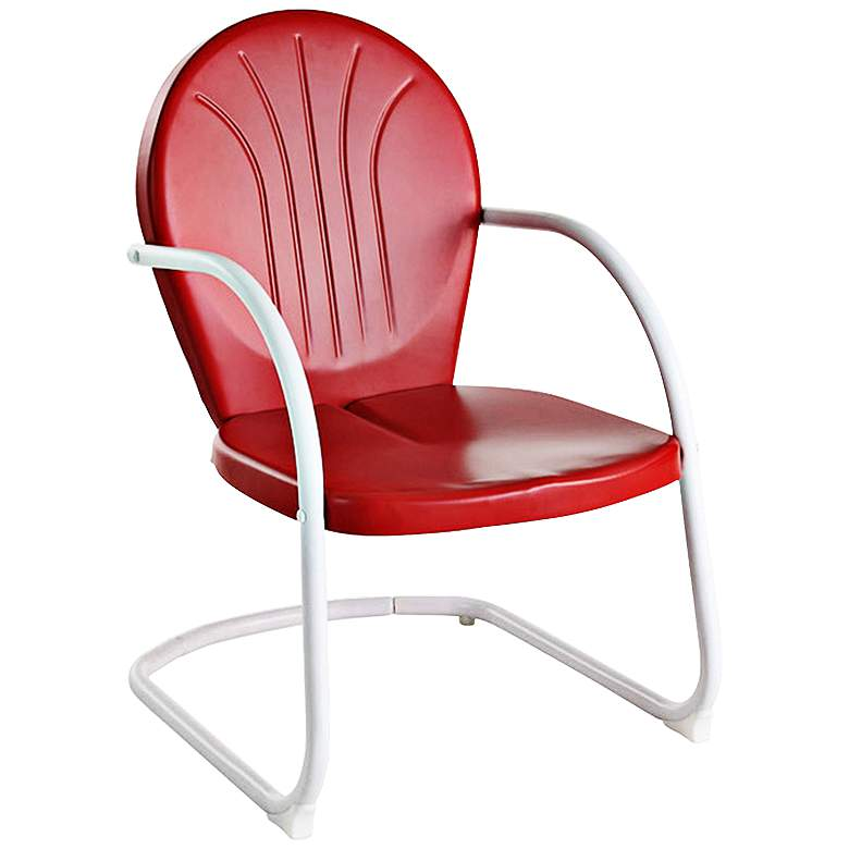 Griffith Nostalgic Bold Red Metal Outdoor Chair