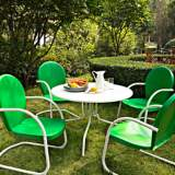 Griffith Grasshopper Green 5-Piece Outdoor Dining Set
