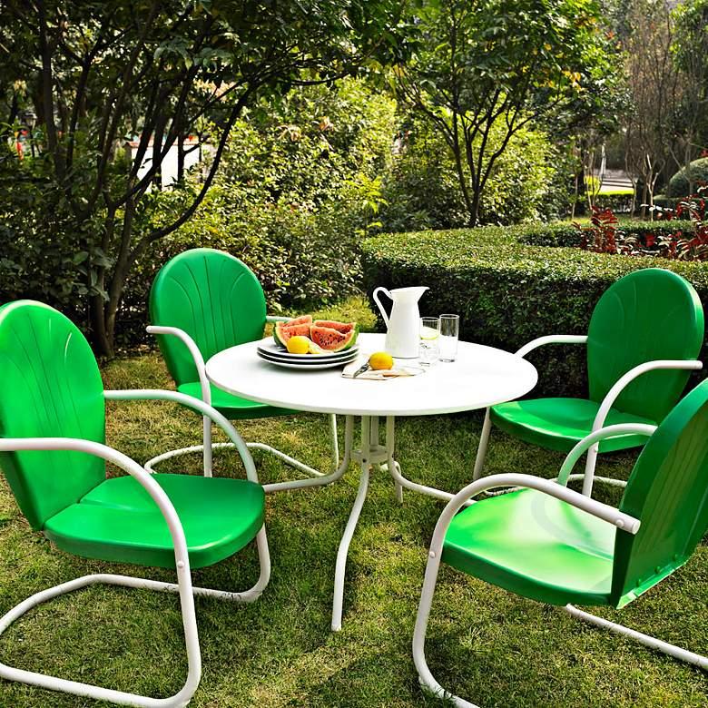 Griffith Grasshopper Green 5-Piece Outdoor Dining Set