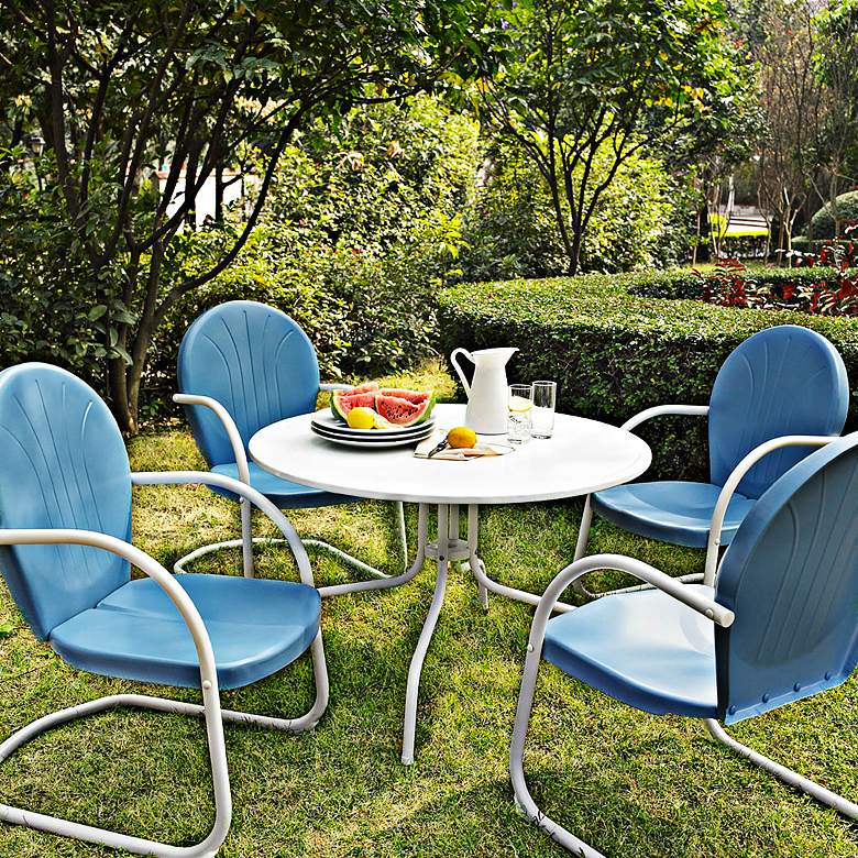 Griffith Sky Blue 5-Piece Outdoor Patio Dining Set