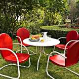 Griffith Nostalgic Red 5-Piece Outdoor Dining Set