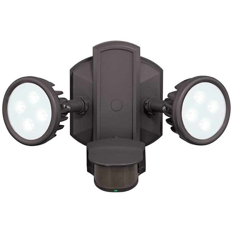 "Lambda 12 1/2""W LED Bronze Motion Sensor Security Floodlight"