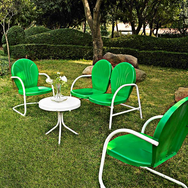 Griffith Grasshopper Green 4-Piece Outdoor Seating Patio Set