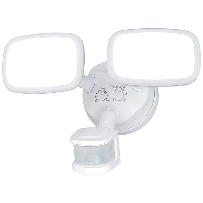"Sigma 10 1/4""W LED White Motion Sensor Security Light"