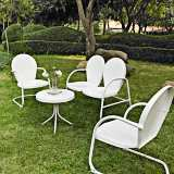 Griffith Nostalgic White 4-Piece Outdoor Seating Patio Set