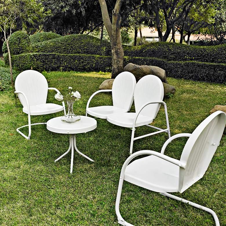 Griffith Nostalgic White 4-Piece Outdoor Seating Patio Set