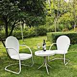 Griffith Nostalgic White 3-Piece Outdoor Seating Patio Set