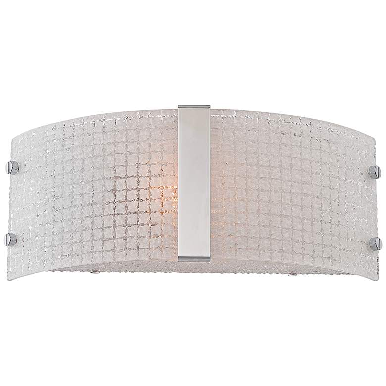 "Lite Source Maso 12"" Wide Textured Quartz Wall Sconce"