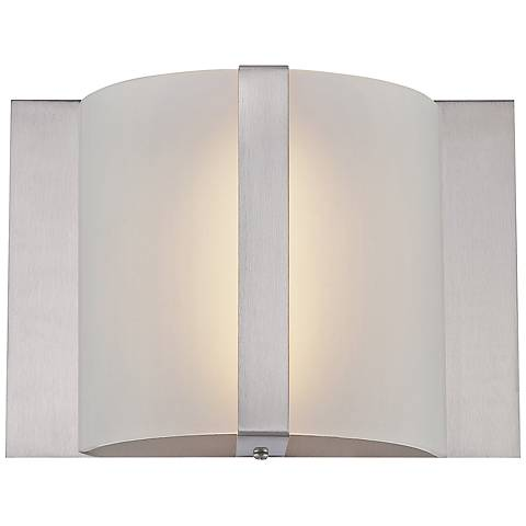 "Lite Source Waldo LED 8 1/2""W Frosted Glass Wall Sconce"