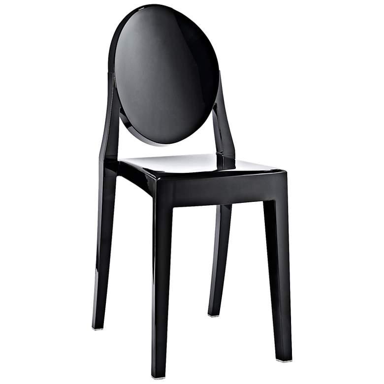 Casper Molded Black Indoor/Outdoor Dining Chair