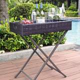 Palm Harbor Outdoor Wicker Butler Tray
