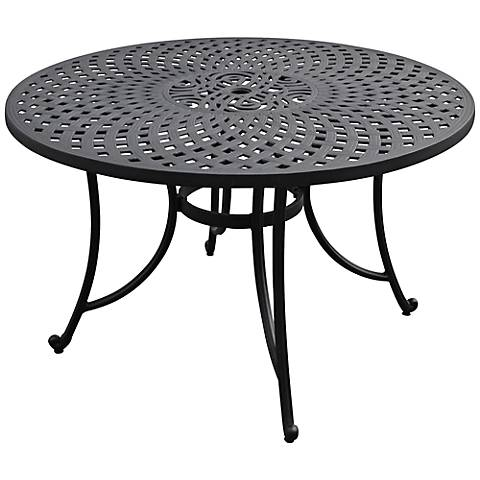 Sedona Large Charcoal Black Round Outdoor Dining Table