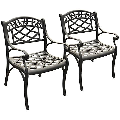 Sedona Charcoal Black Outdoor Armchair Set of 2