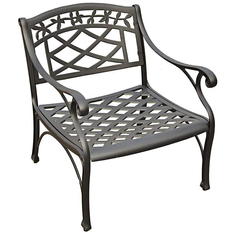 Sedona Charcoal Black Outdoor Club Chair