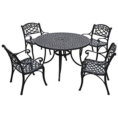 Sedona Armchair Charcoal Large 5-Piece Outdoor Dining Set