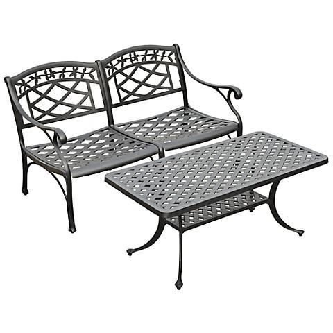 Sedona 2-Piece Charcoal Outdoor Conversation Seating Set