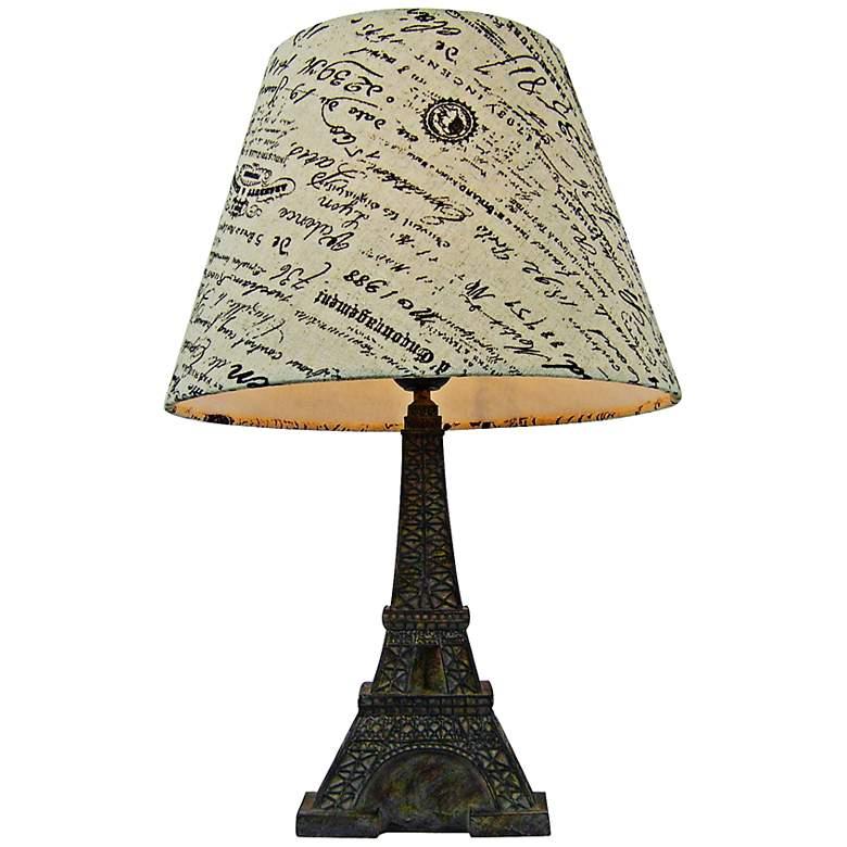 "Eiffel Tower Paris 15 3/4""H Brown Slate Accent Table Lamp"